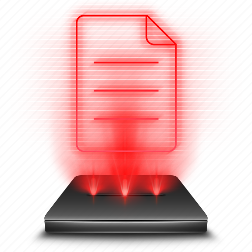 file, hologram, holographic, note, red icon