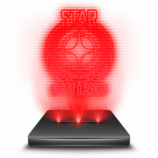citizen, game, hologram, red, star icon