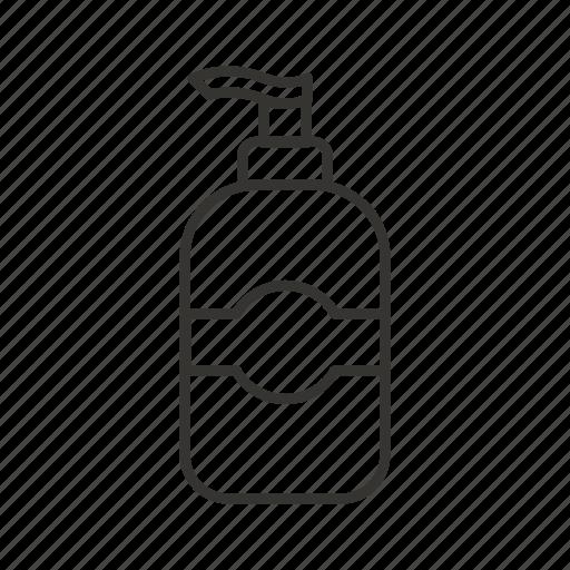 dispenser, foam, liquid, soap, wash icon