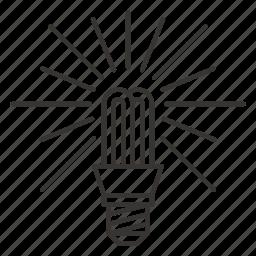 bulb, electric, idea, lamp icon