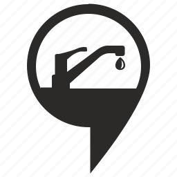 geo, pointer, supply, toilet, water icon