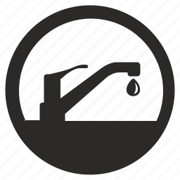 round, supply, washing, water icon