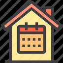 calendar, home, property, smart icon