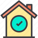 check, home, property, smart icon