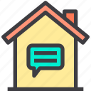 contact, home, property, smart icon