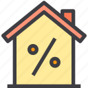 discount, home, property, smart icon