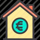 euro, home, money, property, smart icon