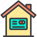 financial, home, property, smart icon