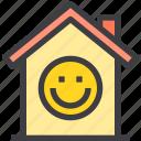 happy, home, property, smart icon
