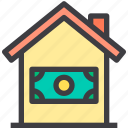 home, loan, property, smart icon