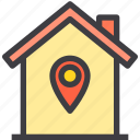 home, location, property, smart icon