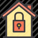 home, lock, property, smart icon
