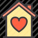 home, love, property, smart icon