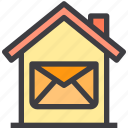 home, mail, property, smart icon