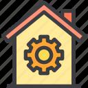 home, process, property, smart icon