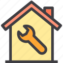 home, property, repair, smart icon