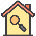 home, property, search, smart icon