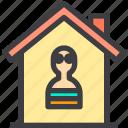 home, property, smart, thife icon