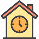 home, property, smart, time icon