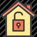 home, property, smart, unlock icon