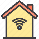 home, property, smart, wifi icon