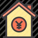 home, money, property, smart, yen icon