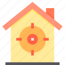 home, property, smart, target icon
