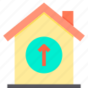 home, property, smart, up icon