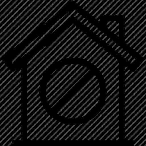 ban, home, property, smart icon