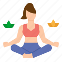 meditation, relax, relaxing, wellness, yoga icon