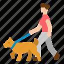 dog, people, pet, walk, walking icon