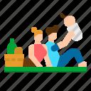 basket, family, holiday, picnic, supermarket
