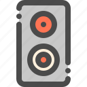 audio, electronic, loudspeaker, sound, speaker icon