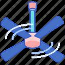 ceiling, fan, ventilator icon