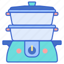 cooking, food, steamer icon