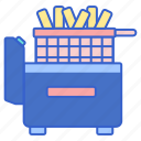 cooking, deep, fryer icon