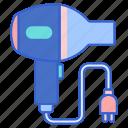 dryer, hair, blow, hairdryer icon