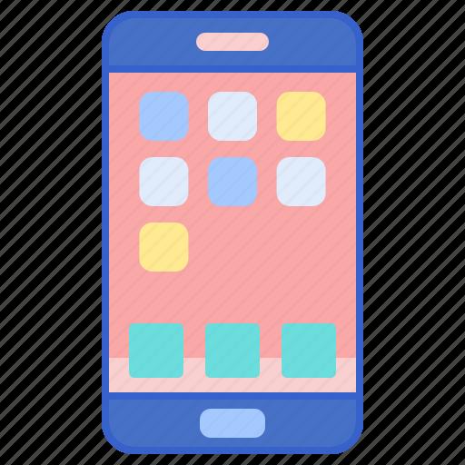 Handphone, phone, smart icon