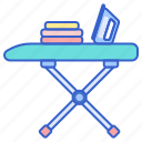 board, foldable, ironing icon