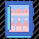 cooler, fridge, wine icon