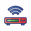 appliance, box, tv icon