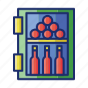 appliance, cooler, wine icon