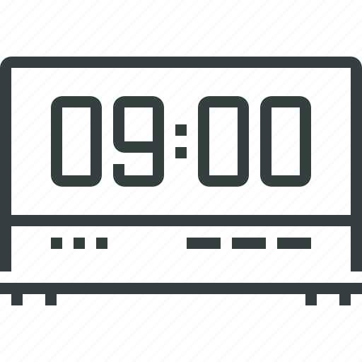 clock, digital icon
