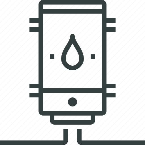 heater, water icon
