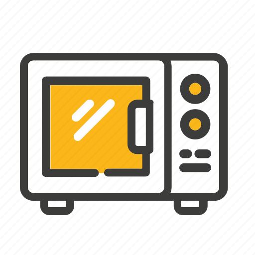 cooking, microwave, oven, set icon