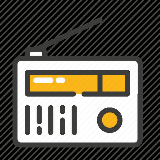news, radio, set icon