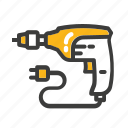 bor, equipment, machine, mechanic, set, tool icon