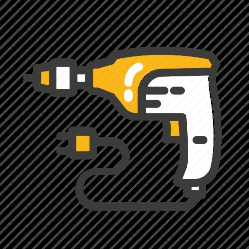 bor, equipment, machine, mechanic, set, tool icon