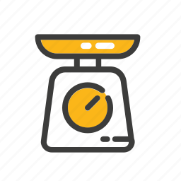 cooking, scale, set, weight icon