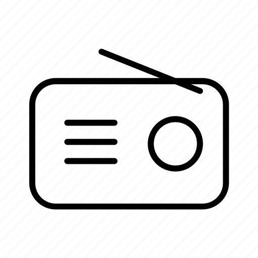 audio, communication device, fm, radio, radio station icon